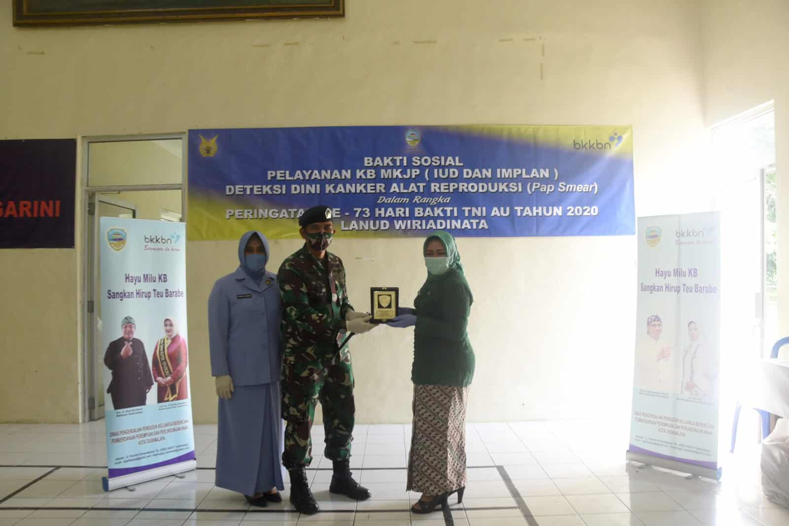 Cegah Kanker Serviks Lanud Wiriadinata Dan BKKBN Gelar Pemeriksaan Pap Smear