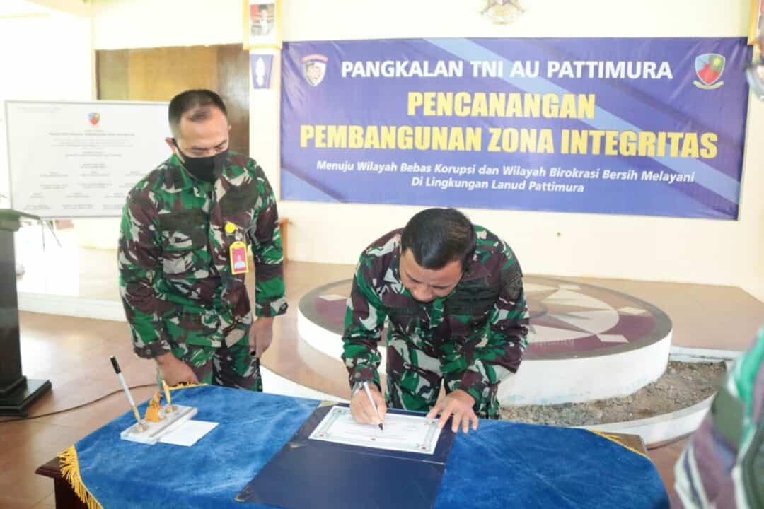 Pencanangan Zona Integritas Di Lanud Pattimura