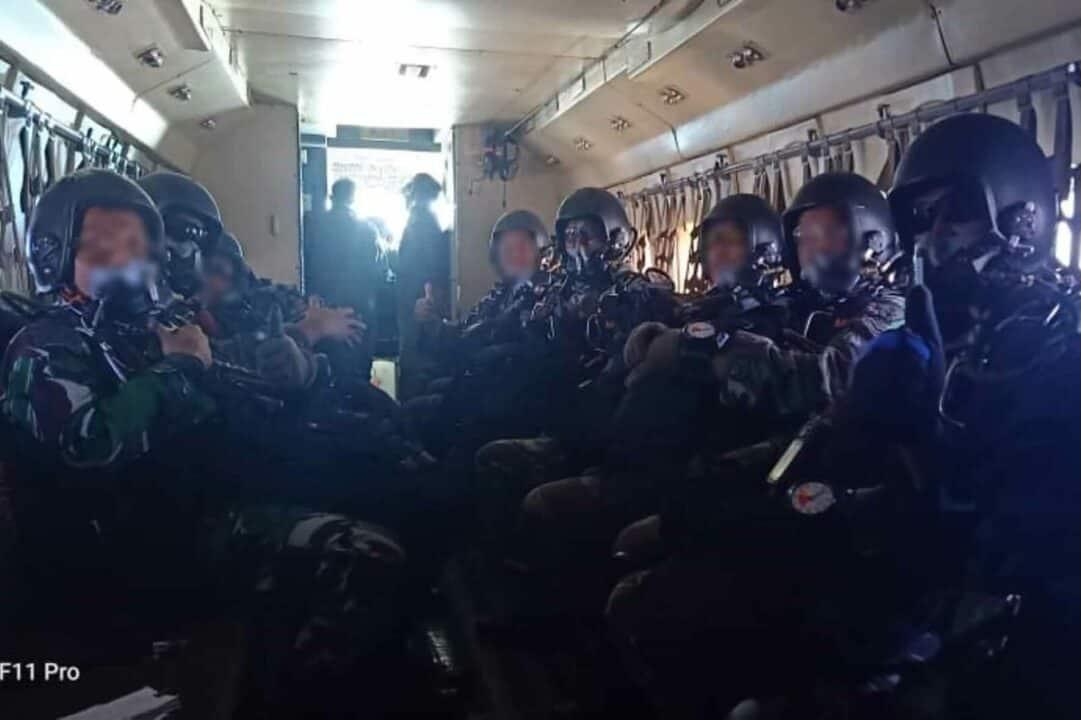 Tim Dalpur Den Matra 2 Paskhas Latihan Free Fall Halo-Haho Latih Ketepatan Mendarat