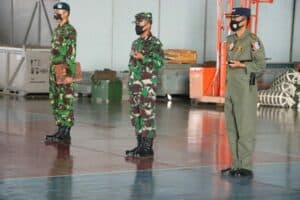 Danlanud Sultan Hasanuddin Tutup Pelatihan Inspektor Teknisi Pesawat Sukhoi 27/30MK Skadron Udara 11