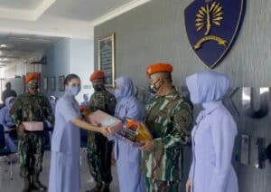 Batalyon Komando 462 Paskhas Lepas Prajurit Purna Tugas