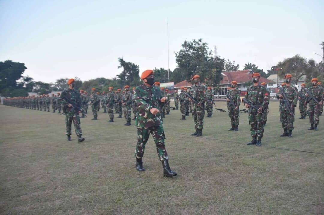 Upacara Penyambutan Purna Tugas Satgas Paskhas Pengamanan Bandara Rahwan Papua