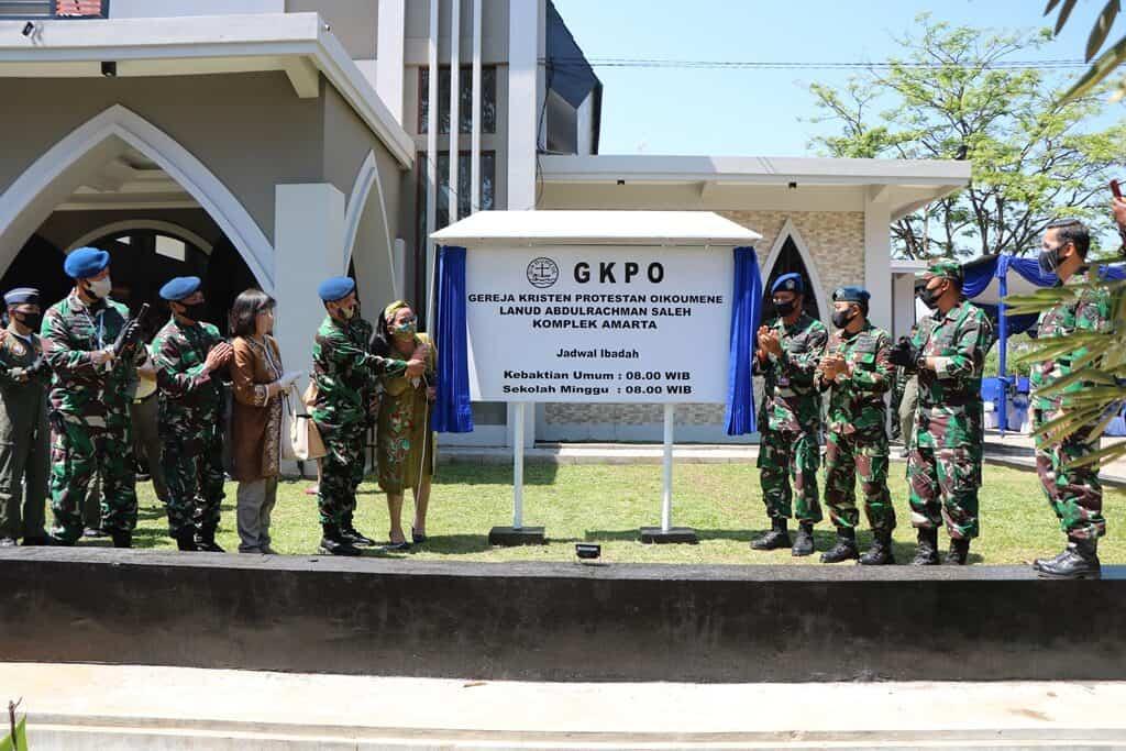Komandan Lanud Abdulrachman Saleh Resmikan Renovasi Gedung GKPO