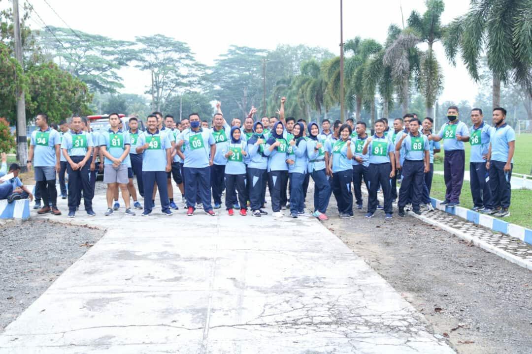 Pandemi Covid-19 Tidak Menyurutkan Semangat Personil Lanud BNY untuk Melaksanakan Tes Samapta