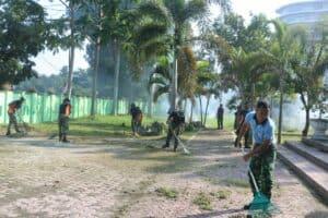 Sambut Hari Bakti TNI AU ke 73, Lanud Soewondo, Kosek Hanudnas III, Wing III Paskhas dan Yonko 469 laksana Korve Masal bersama.