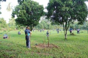 73 bibit pohon buah ditanam di Lanud BNY dalam rangka memperingati Hari Bakti TNI AU ke 73