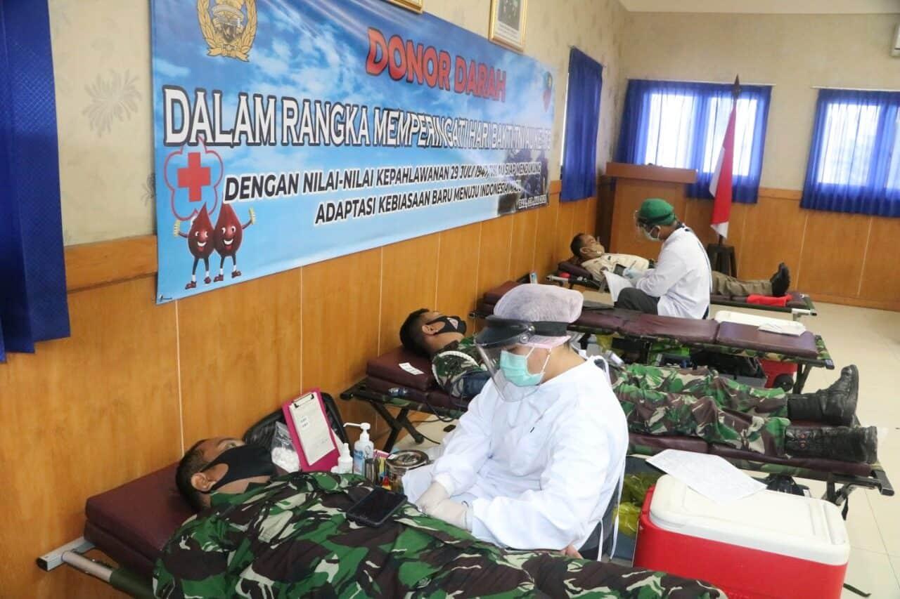 Menyambut Hari Bakti TNI Angkatan Udara, Lanud I Gusti Ngurah Rai menggelar Donor Darah