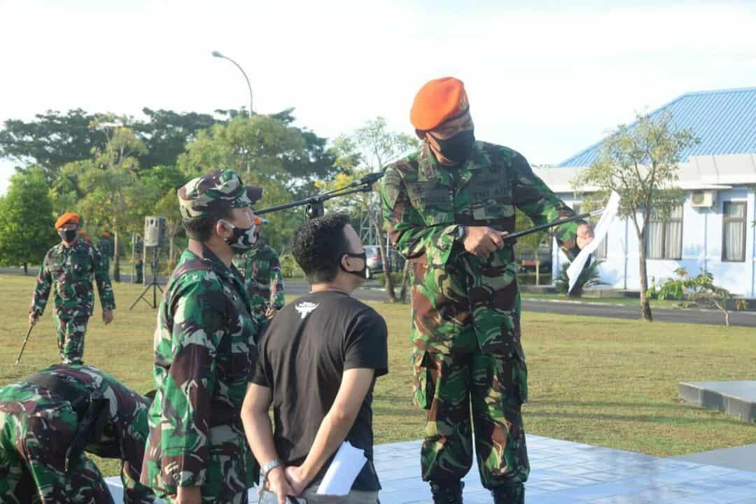 Wakil Komandan Wing II Paskhas Melaksanakan Inspeksi Mendadak di Batalyon Komando 466 Paskhas
