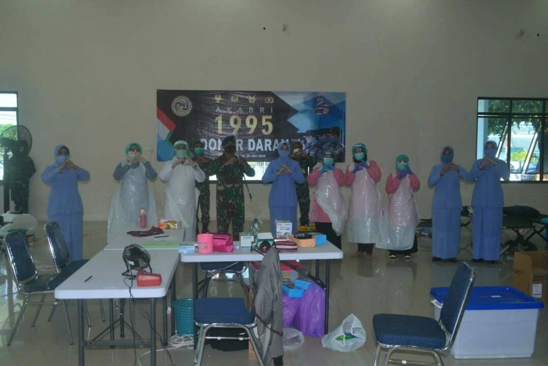 Gelar Donor Darah Dalam Rangka Memperingati Pengabdian 25 Tahun AKABRI Alumni 1995 di Lanud Sjamsudin Noor