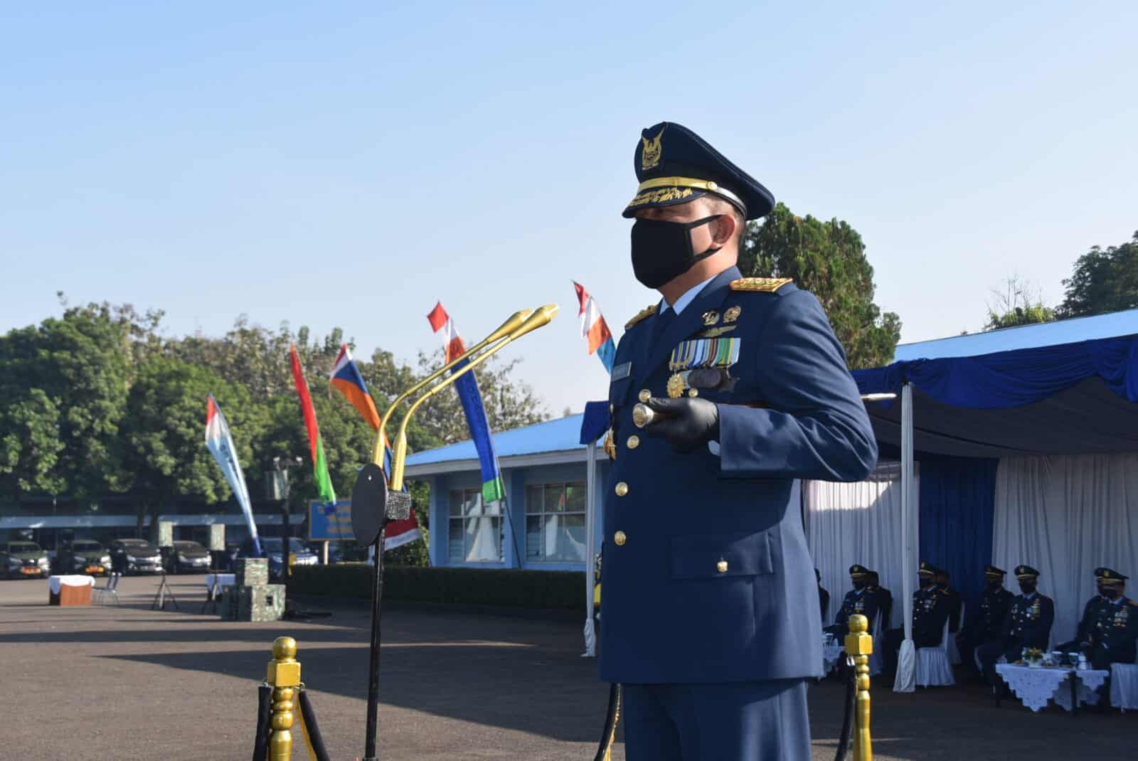 Peringatan hari bakti TNI AU ke-73 bakorda bandung