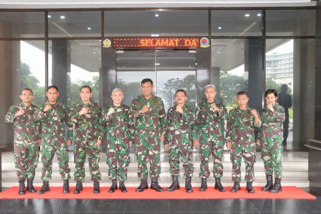 Pangkosekhanudnas III Menerima Kunjungan Ka Otmil 1-02 Medan dan Ka Dilmilti I Medan