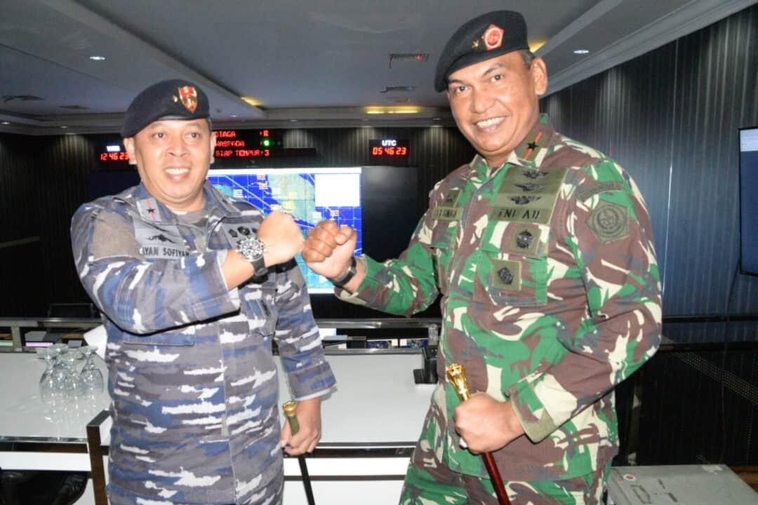 Pangkosekhanudnas III Menerima Kunjungan Komandan Guskamla Koarmada I
