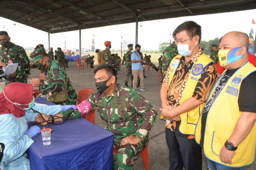 Memperingati Hari Bakti TNI Angkatan Udara ke-73 Personel Kosekhanudnas III Mengikuti Kegiatan Donor Darah