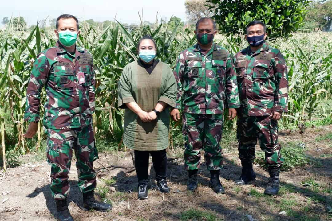 Waaspotdirga Kasau Survei Lapangan Program Ketahanan Pangan di Lanud Sulaiman
