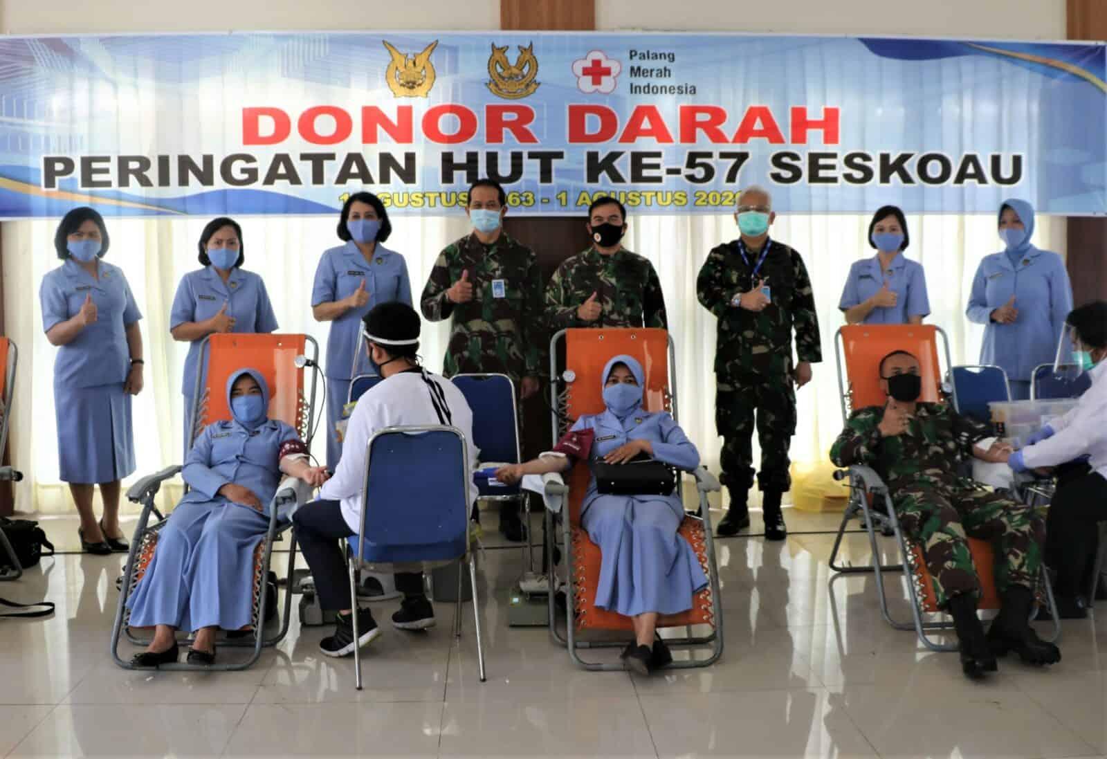 Seskoau Sumbang 104 Kantong Darah Untuk PMI