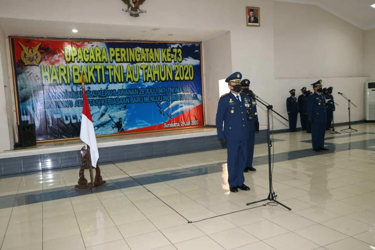TNI AU di Surakarta Gelar Upacara Puncak Peringatan Ke 73 Hari Bakti