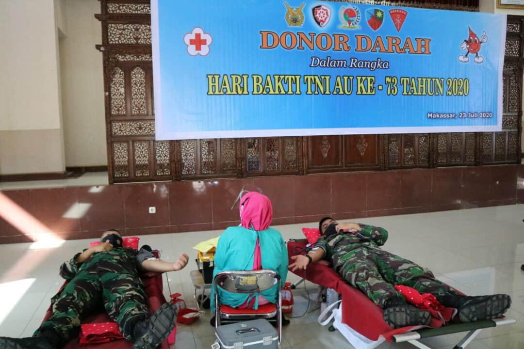 Personel Kosekhanudnas II megikuti kegiatan Donor Darah