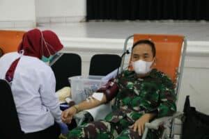 LANUD SULAIMAN IKUTI DONOR DARAH HARI BAKTI KE-73 TNI AU