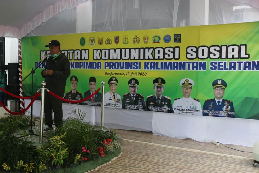 Komandan Lanud Sjamsudin Noor Hadiri Acara Komsos Kejati Prov. Kalsel Dengan Forkopimda Prov. Kalsel