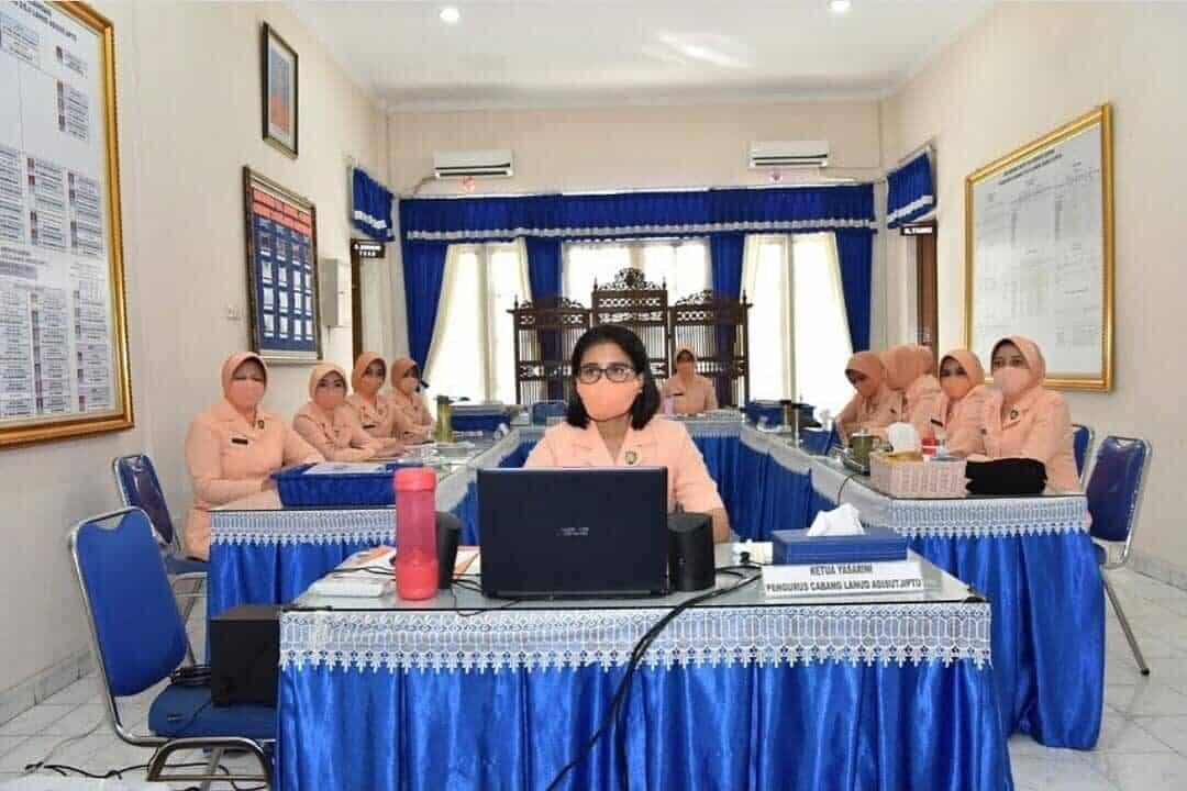 Yasarini Cabang Lanud Adisutjipto ikuti Webinar Persiapan Sekolah Angkasa Menyambut Era New Normal