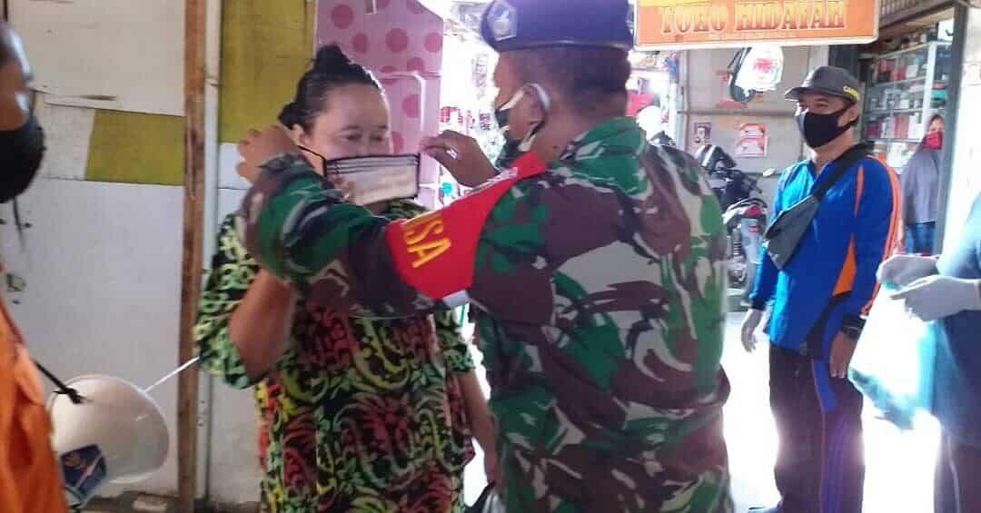 Lanud Pangeran M. Bun Yamin Melaksanakan Program Pendisiplinan Protokol Kesehatan
