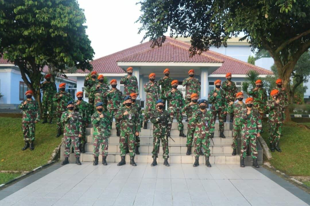 Danlanud Ats Terima 20 Personel BKO Paskhas Batalyon 467 Kompi C Senapan