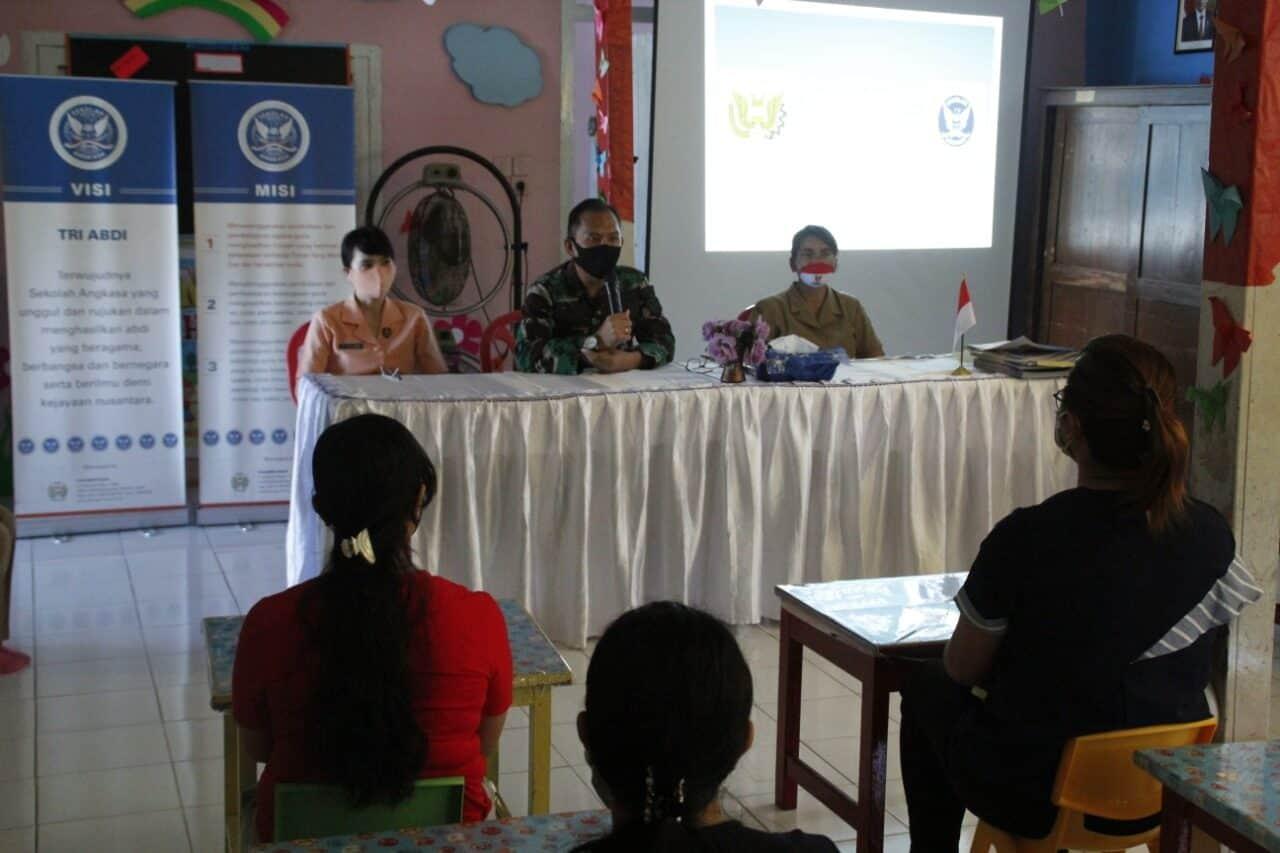 TK Angkasa Lanud Sam Ratulangi Gelar Pengenalan Lingkungan Sekolah Secara Online