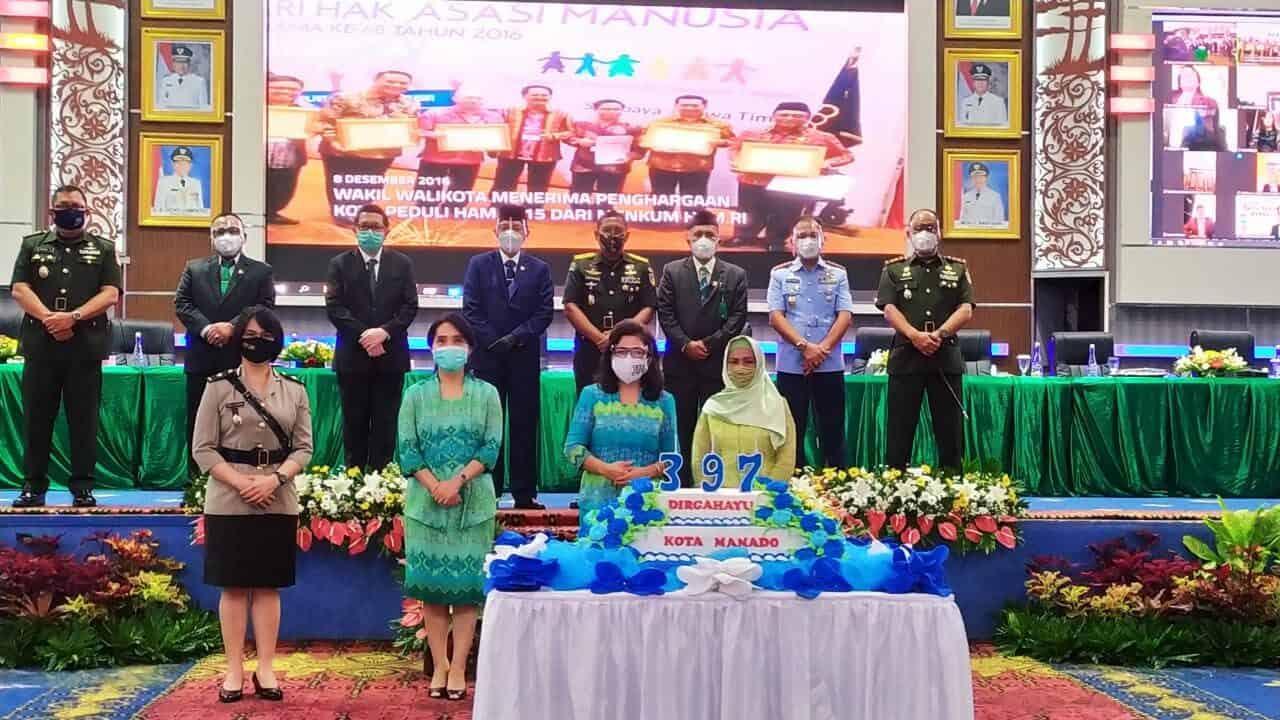 Danlanud Sam Ratulangi Hadiri Peringatan HUT ke-397 Kota Manado