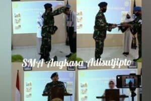 Danlanud Adisutjipto beserta Ketua Yasarini Cabang Lanud Adisutjipto berikan motivasi dan tutup kegiatan MPLS Sekolah Angkasa