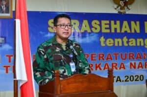 Sarasehan Perwira Hukum TNI AU, Kadiskumau: Perlu Upaya Efisien Cegah Terjadinya Pelanggaran dan Tindak Pidana
