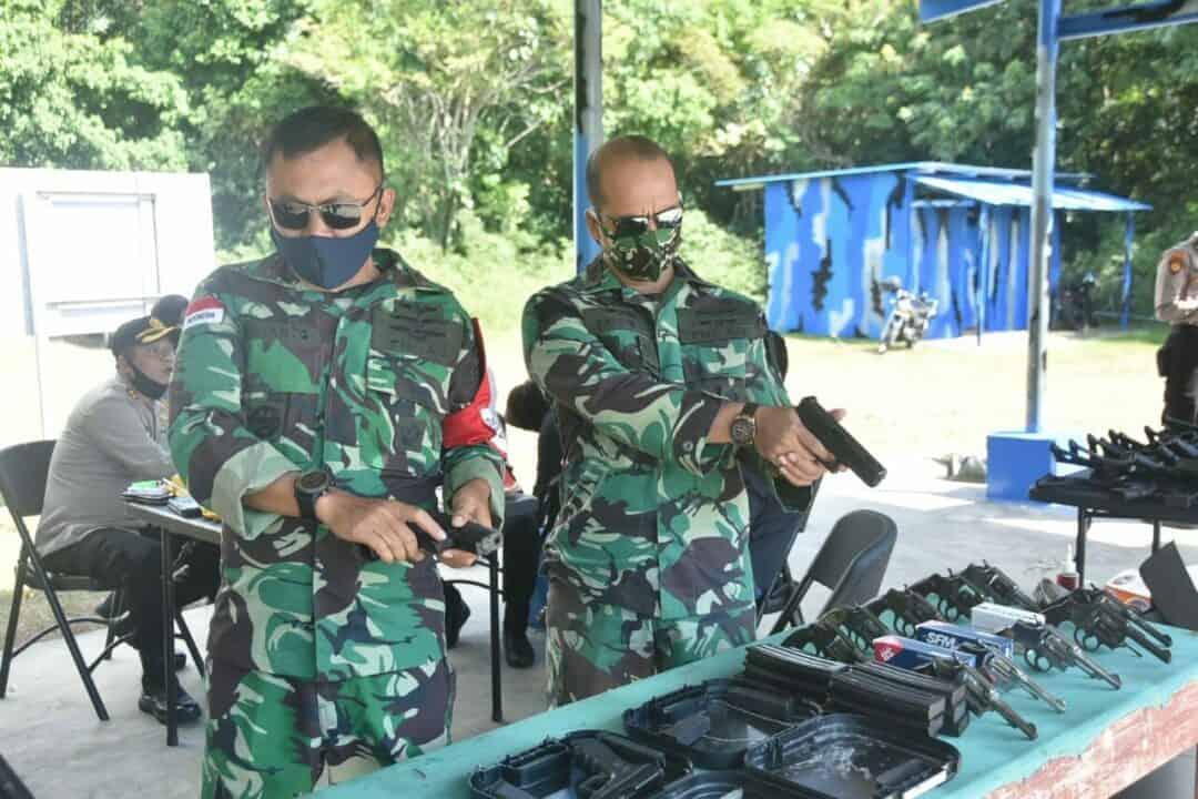 Pulau Terluar Perkuat Sinergitas Melalui Latihan Menembak.
