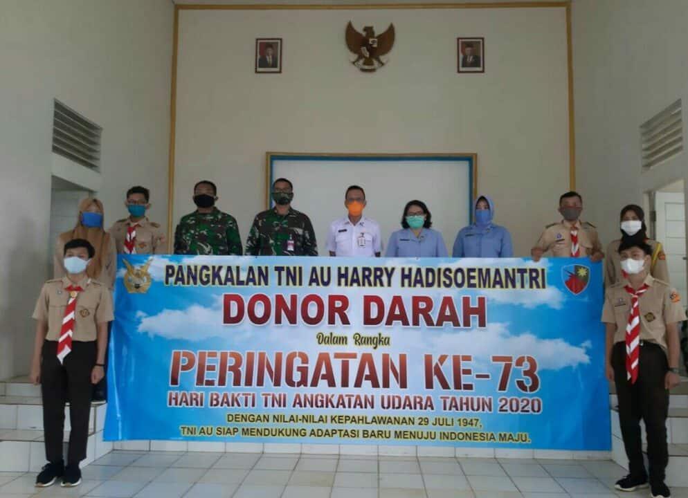 Lanud Harry Hadisoemantri Laksanakan Donor Darah, Dalam Rangka Hari Bakti Ke-73 TNI AU