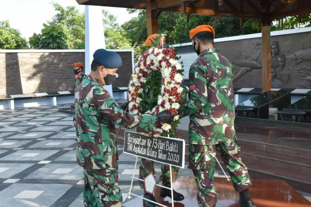 Ziarah peringatan ke-73 tahun Hari Bakti di Monumen Perjuangan TNI AU