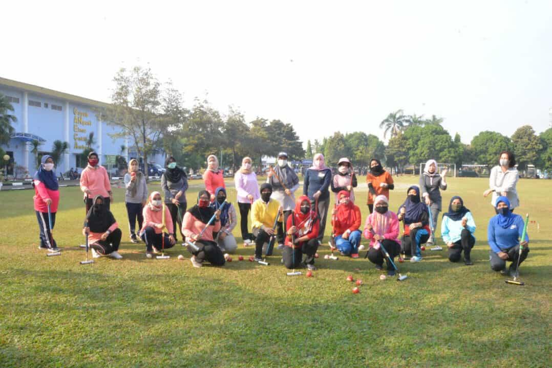 Sosialisasi Latihan Gateball Kepada Pengurus dan Anggota PIA AG Gab. II Kodiklatau dan Cabang Jajaran Wilayah Jakarta