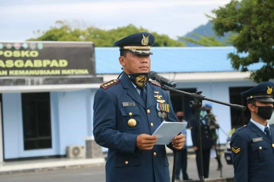 Lanud Raden Sadjad Gelar upacara Hari Bakti TNI AU ke-73