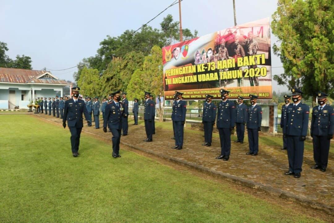 Upacara Hari Bakti TNI Angkatan Udara ke- 73 di Lanud Haluoleo