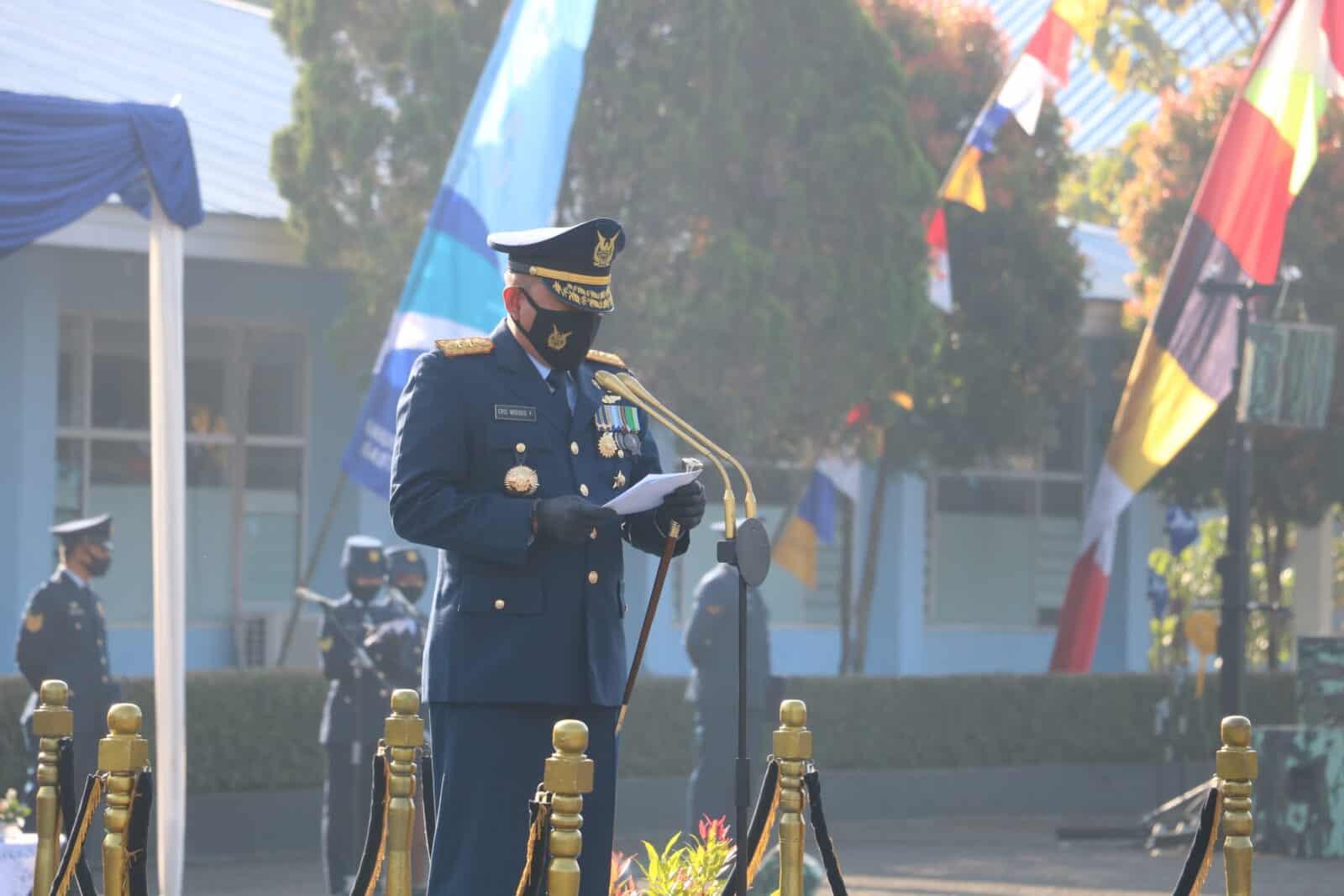 TNI AU Bakorda Bandung Peringati Upacara Hari Bakti ke-73 TNI AU di Lanud Sulaiman