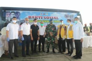 Menyambut Hari Bakti, TNI AU di Medan Bagikan 2000 Sembako dan Pemeriksaan Kesehatan Gratis