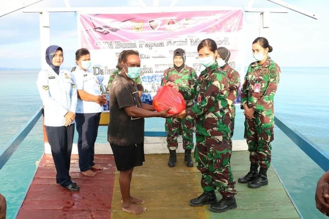 WARA Gabungan Koopsau III Anjangsana Ke Desa Samber Kabupaten Biak