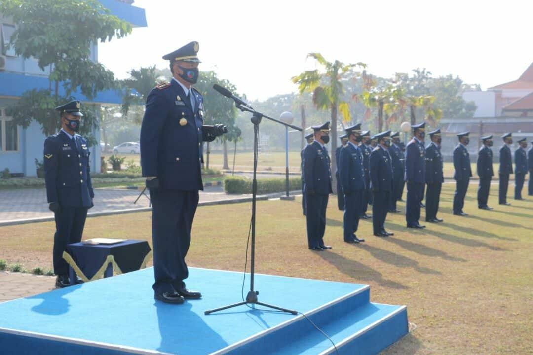 TNI AU di Surabaya Laksanakan Upacara Peringatan Ke-73 Hari Bakti TNI AU