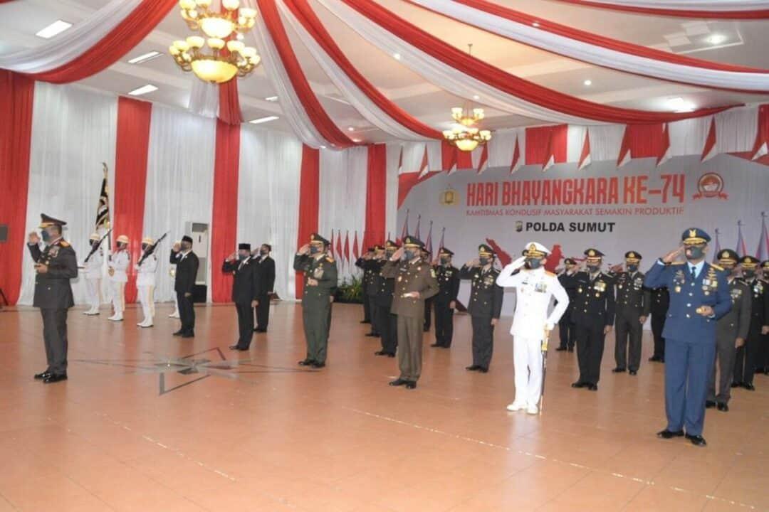 Panglima Kosekhanudnas III Hadiri Upacara HUT Bhayangkara ke 74