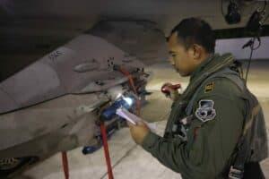Lanud Iswahjudi Gelar Latihan Night Air To Ground dan NVG Training