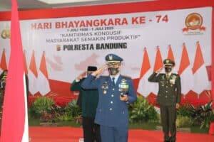 KOMANDAN LANUD SULAIMAN HADIRI HUT BHAYANGKARA KE-74 DI MAPOLRESTA BANDUNG