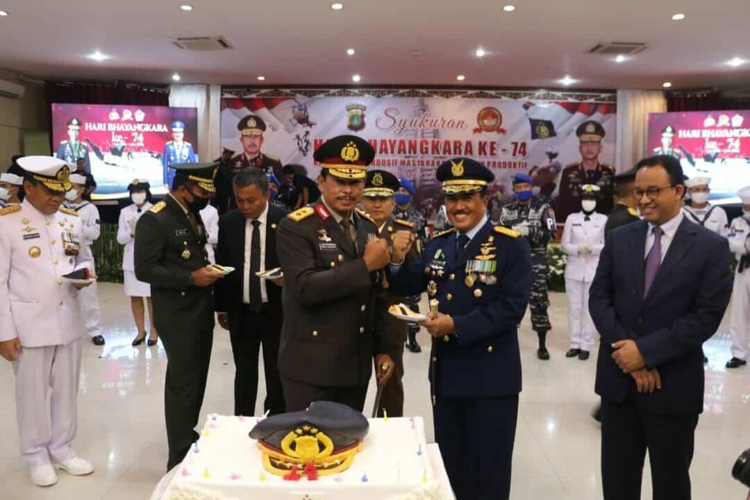 Pangkoopsau I Hadiri Peringatan Hari Bhayangkara di Mapolda Metro Jaya