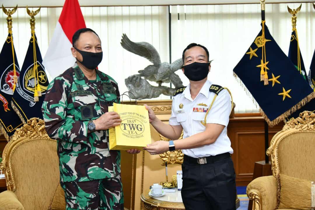 Pererat Kerja Sama, Atase Udara dan Atase Pertahanan Udara Singapura Kunjungi Mabesau