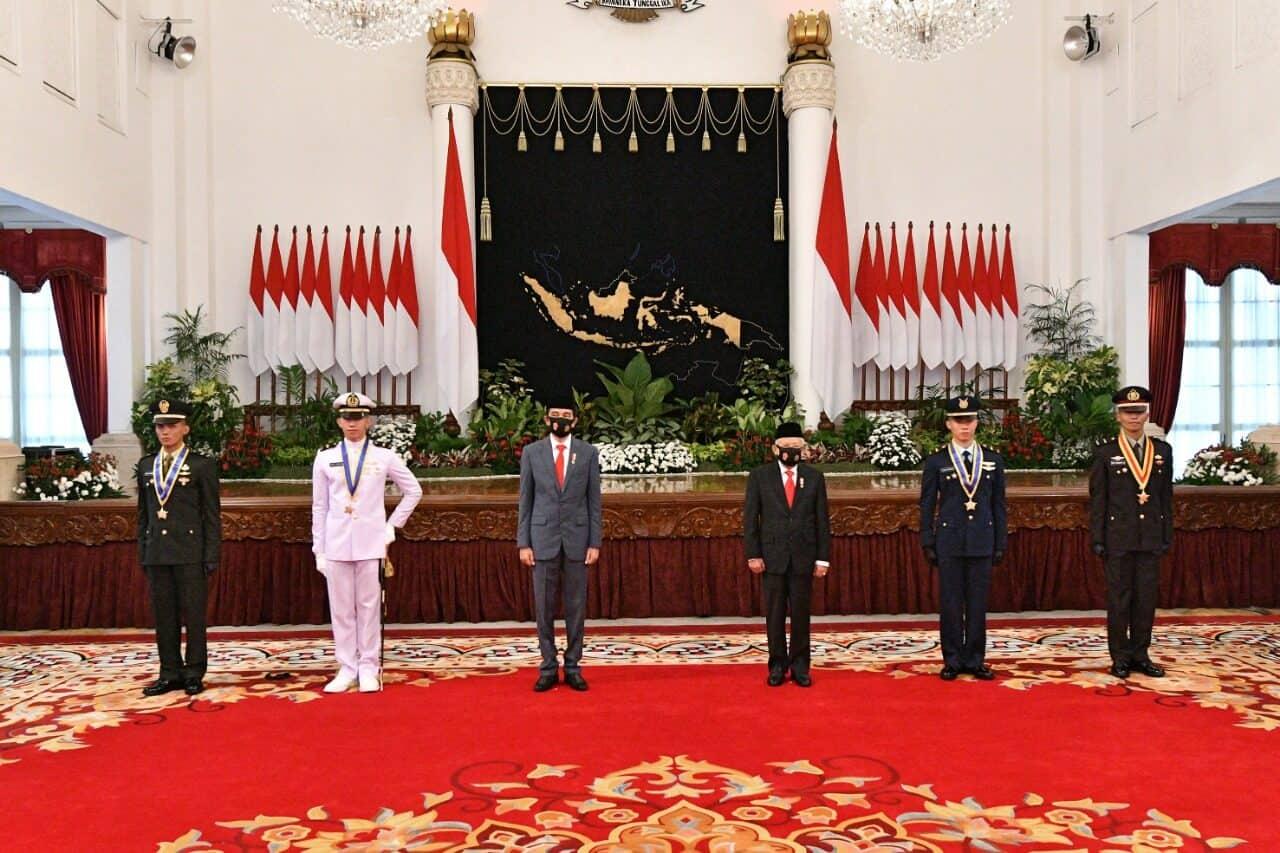 Praspa TNI-Polri 2020, Presiden Lantik 750 Perwira Remaja TNI-Polri