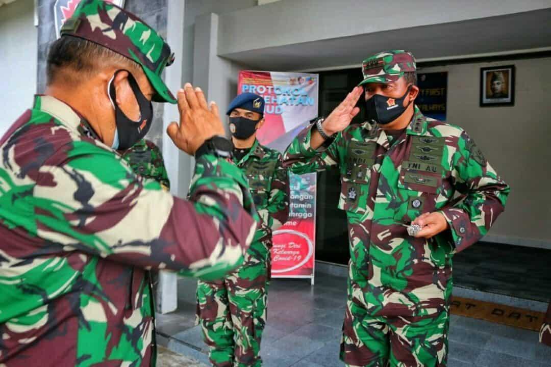 Danlanud RHF Terima Kunjungan Kerja Pangkogabwilhan I di Tanjungpinang