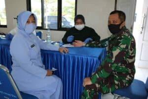Peringati Hari Bakti Ke-73 TNI AU, Lanud Sugiri Sukani Gelar Donor Darah