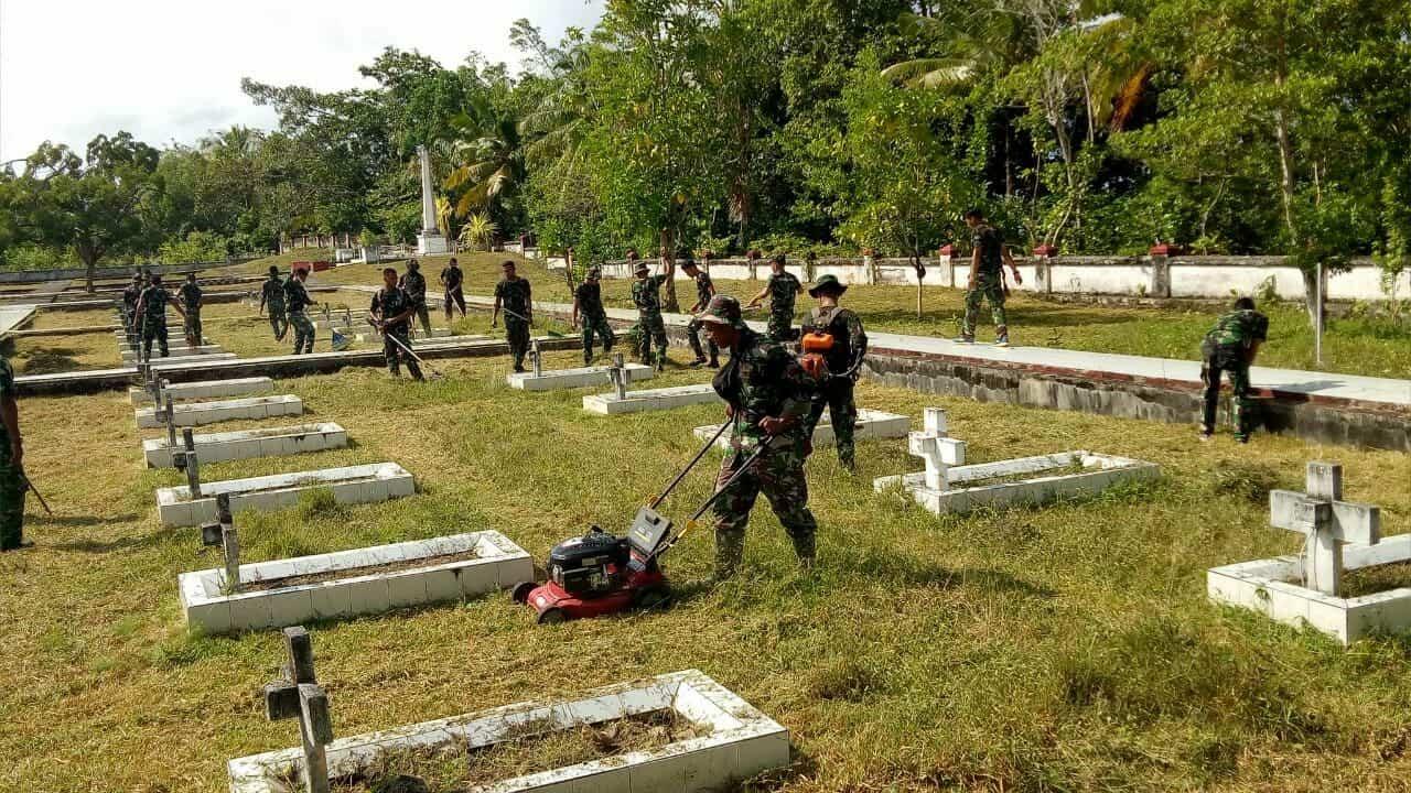 Korve Masal Angkatan Udara di TMP Cendrawasih Biak