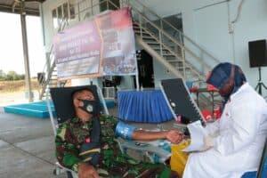 Dalam Rangka Memperingati Hari Bhakti TNI AU Ke-73 Lanud SIM Gelar Bhakti Sosial Donor Darah